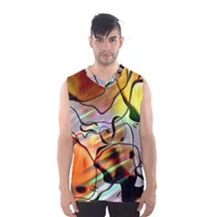 Abstract Transparent Drawing Men s Sportswear