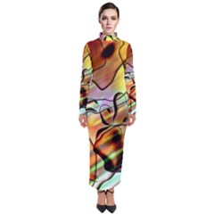 Abstract Transparent Drawing Turtleneck Maxi Dress by HermanTelo