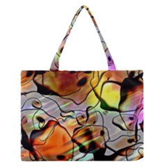 Abstract Transparent Drawing Zipper Medium Tote Bag by HermanTelo