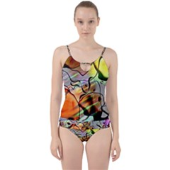 Abstract Transparent Drawing Cut Out Top Tankini Set by HermanTelo
