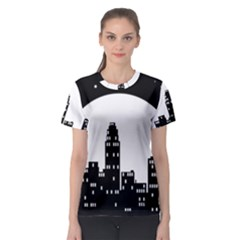City Night Moon Star Women s Sport Mesh Tee by HermanTelo
