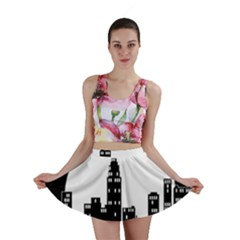 City Night Moon Star Mini Skirt
