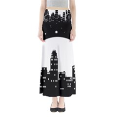 City Night Moon Star Full Length Maxi Skirt by HermanTelo