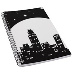 City Night Moon Star 5 5  X 8 5  Notebook by HermanTelo