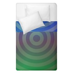 Blue Green Abstract Background Duvet Cover Double Side (single Size)