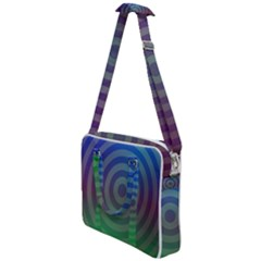 Blue Green Abstract Background Cross Body Office Bag