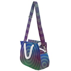 Blue Green Abstract Background Rope Handles Shoulder Strap Bag