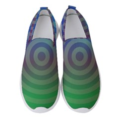 Blue Green Abstract Background Women s Slip On Sneakers