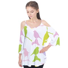 Birds Colourful Background Flutter Tees by HermanTelo