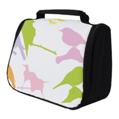 Birds Colourful Background Full Print Travel Pouch (small)
