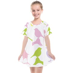 Birds Colourful Background Kids  Smock Dress by HermanTelo