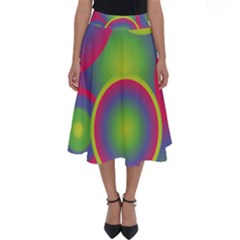 Background Colourful Circles Perfect Length Midi Skirt