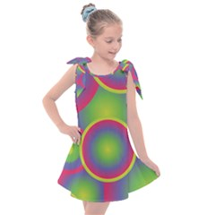 Background Colourful Circles Kids  Tie Up Tunic Dress