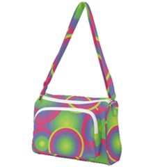 Background Colourful Circles Front Pocket Crossbody Bag