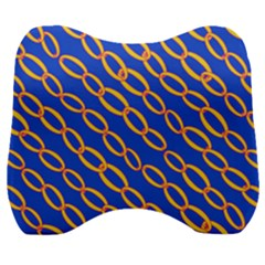 Blue Abstract Links Background Velour Head Support Cushion