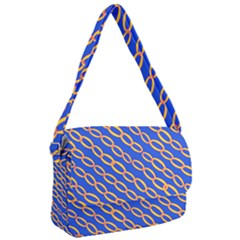 Blue Abstract Links Background Courier Bag