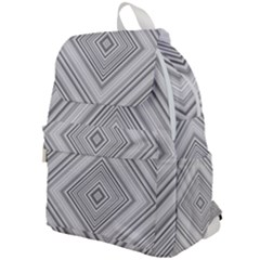 Black White Grey Pinstripes Angles Top Flap Backpack