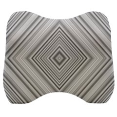 Black White Grey Pinstripes Angles Velour Head Support Cushion