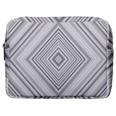 Black White Grey Pinstripes Angles Make Up Pouch (large)