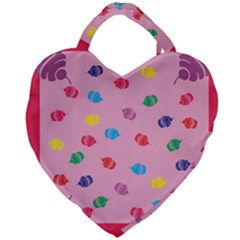 Cupcakes Food Dessert Celebration Giant Heart Shaped Tote by HermanTelo