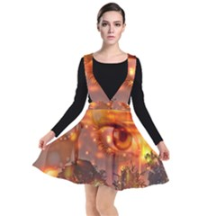 Eye Butterfly Evening Sky Plunge Pinafore Dress