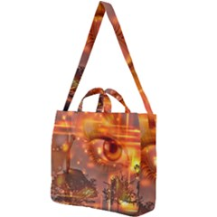 Eye Butterfly Evening Sky Square Shoulder Tote Bag