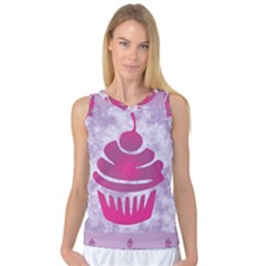 Cupcake Food Purple Dessert Baked Women s Basketball Tank Top