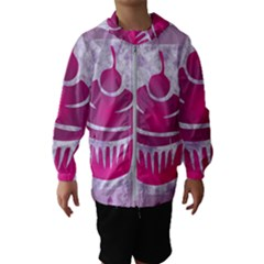 Cupcake Food Purple Dessert Baked Kids  Hooded Windbreaker