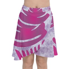 Cupcake Food Purple Dessert Baked Chiffon Wrap Front Skirt