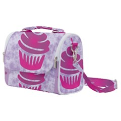 Cupcake Food Purple Dessert Baked Satchel Shoulder Bag