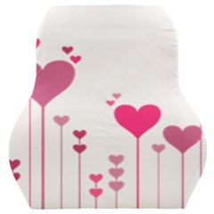 Heart Rosa Love Valentine Pink Car Seat Back Cushion  by HermanTelo