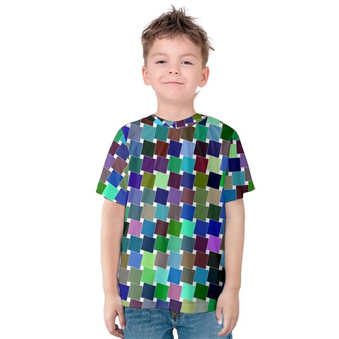 Geometric Background Colorful Kids  Cotton Tee by HermanTelo