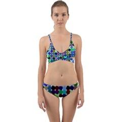 Geometric Background Colorful Wrap Around Bikini Set