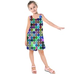 Geometric Background Colorful Kids  Sleeveless Dress by HermanTelo