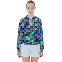 Geometric Background Colorful Women s Tie Up Sweat by HermanTelo