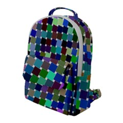 Geometric Background Colorful Flap Pocket Backpack (large) by HermanTelo