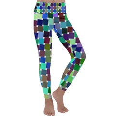 Geometric Background Colorful Kids  Lightweight Velour Classic Yoga Leggings by HermanTelo