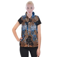 Landscape Woman Magic Evening Women s Button Up Vest by HermanTelo