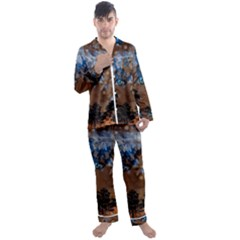 Landscape Woman Magic Evening Men s Satin Pajamas Long Pants Set by HermanTelo