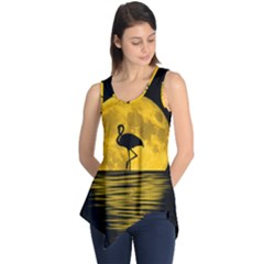 Moon Reflection Flamenco Animal Sleeveless Tunic
