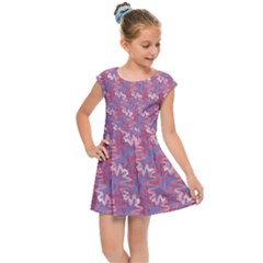 Pattern Abstract Squiggles Gliftex Kids  Cap Sleeve Dress