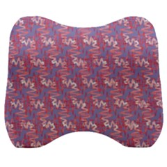Pattern Abstract Squiggles Gliftex Velour Head Support Cushion