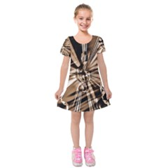 Music Clef Tones Kids  Short Sleeve Velvet Dress by HermanTelo