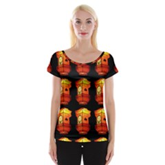 Paper Lantern Chinese Celebration Cap Sleeve Top