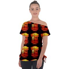 Paper Lantern Chinese Celebration Tie Up Tee by HermanTelo