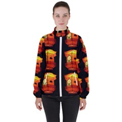 Paper Lantern Chinese Celebration Women s High Neck Windbreaker by HermanTelo