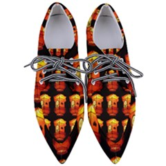 Paper Lantern Chinese Celebration Pointed Oxford Shoes