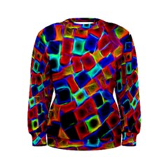 Neon Glow Glowing Light Design Women s Sweatshirt by HermanTelo