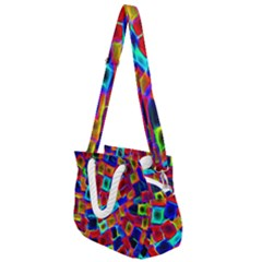 Neon Glow Glowing Light Design Rope Handles Shoulder Strap Bag by HermanTelo