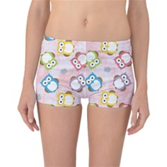 Owl Bird Cute Pattern Background Reversible Boyleg Bikini Bottoms